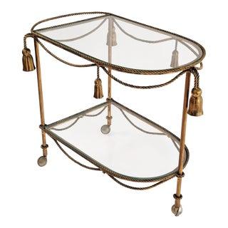 Italian Rope & Tassel Bar Cart