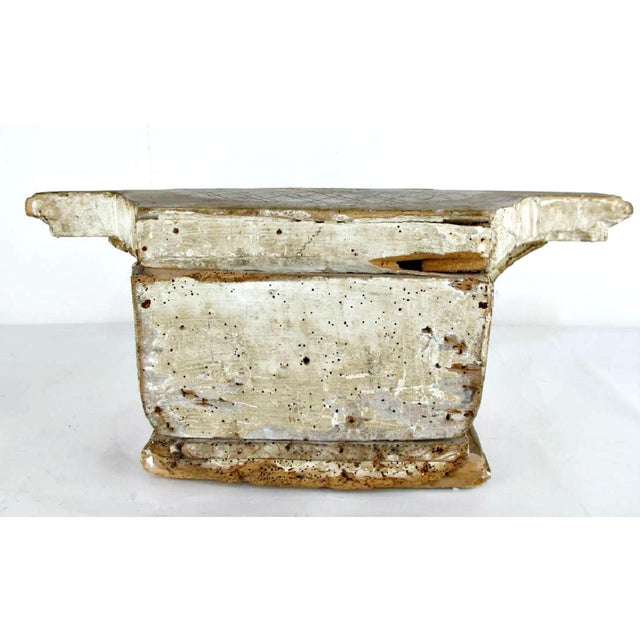 Gold 18th Century French Louis XVI Period Carved Giltwood Alter Pedestal For Sale - Image 8 of 10