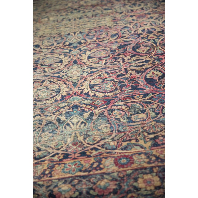 "Old New House Vintage Yezd Carpet - 9'2"" X 11'9"" For Sale - Image 4 of 13"