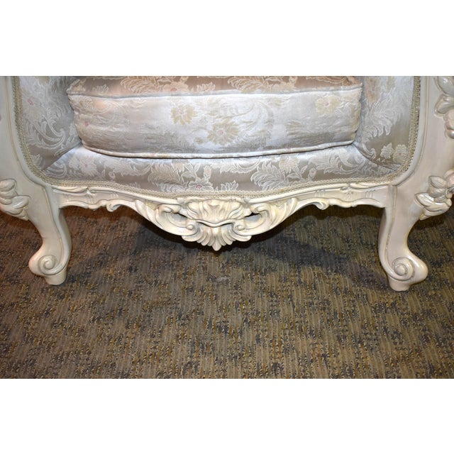 1980s Vintage Ornate Renaissance Style Sitting Chair For Sale In Philadelphia - Image 6 of 13