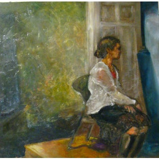 Charleston Interior Figure Painting For Sale