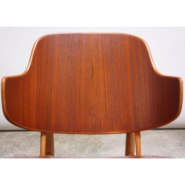Ib Kofod-Larsen Danish Sculptural Shell Chairs in Teak and Beech - a Pair For Sale - Image 9 of 13