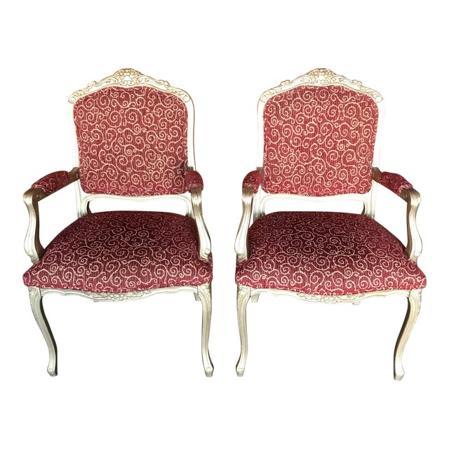 Vintage French Style Arm Chairs - a Pair For Sale