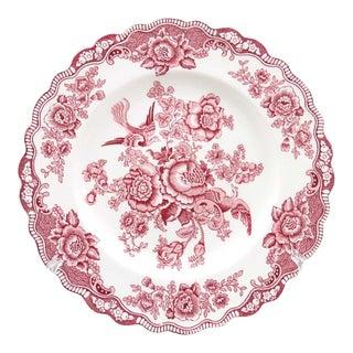 Vintage Crown Ducal Bristol Dinner Plate - Pink Transferware