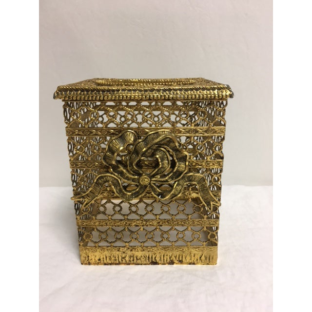Hollywood Regency Goldtone Kleenex Box - Image 2 of 7