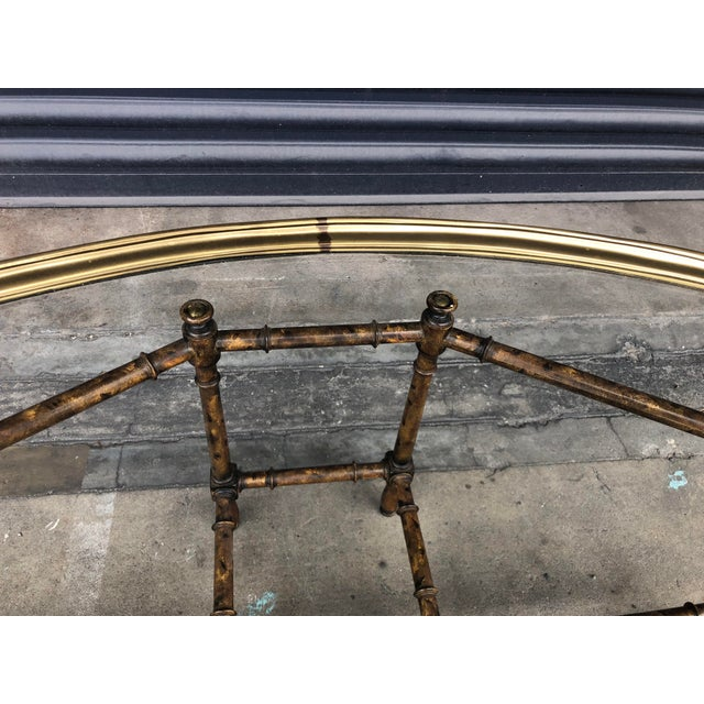 Vintage Faux Bamboo Brass Tray Top Coffee Table For Sale - Image 9 of 13