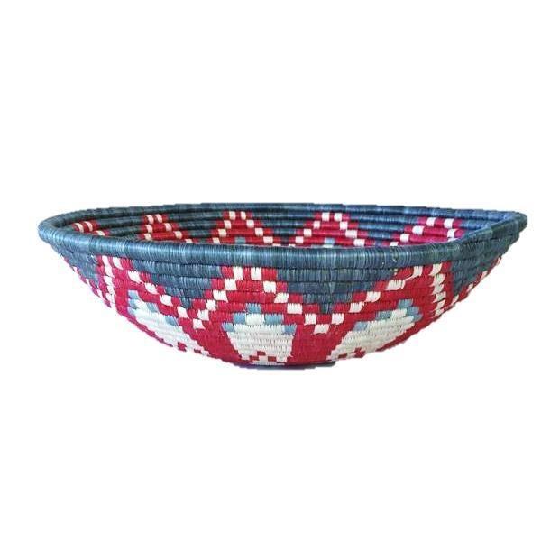 African Basket / Rwanda Baskets/ Woven Basket/ Sweet Grass and Sisal/ Boho| Wall Hanging Basket| Fruit Basket - Image 2 of 5