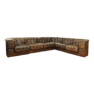 Large De Sede Ds-11 Modular Patchwork Sofa - 1970's