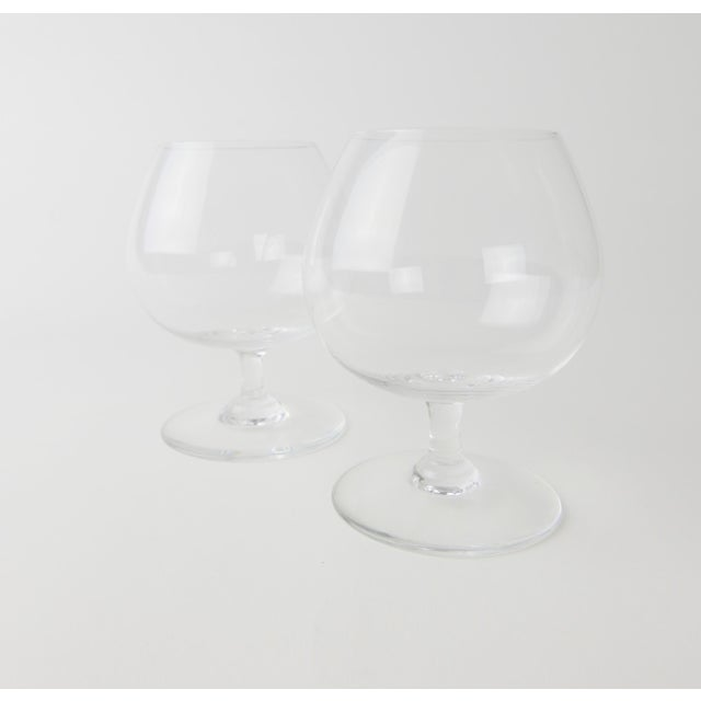 Glass Baccarat Crystal Snifters - a Pair For Sale - Image 7 of 7