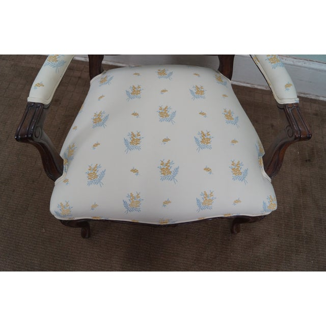 Jeffco J. Peterman Collection French Arm Chair For Sale - Image 7 of 10