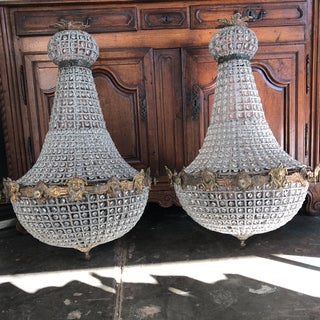French Cherub Empire Chandeliers - a Pair Preview