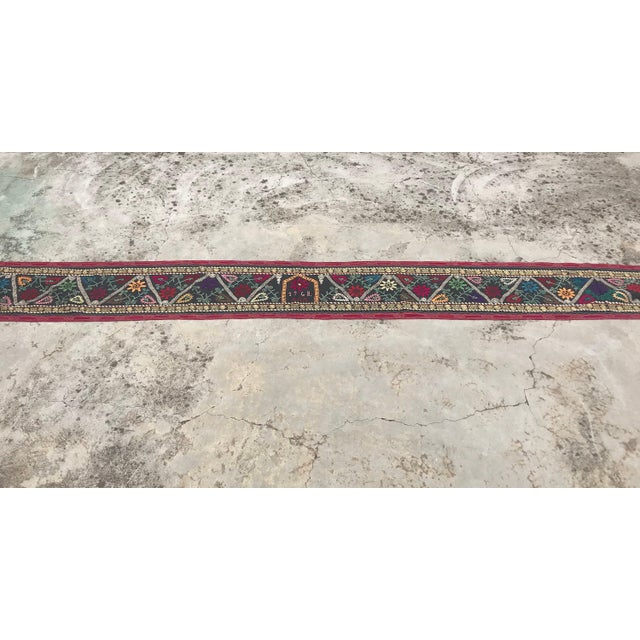 1960s 1968 Antique Suzani Wall Hanging For Sale - Image 5 of 9