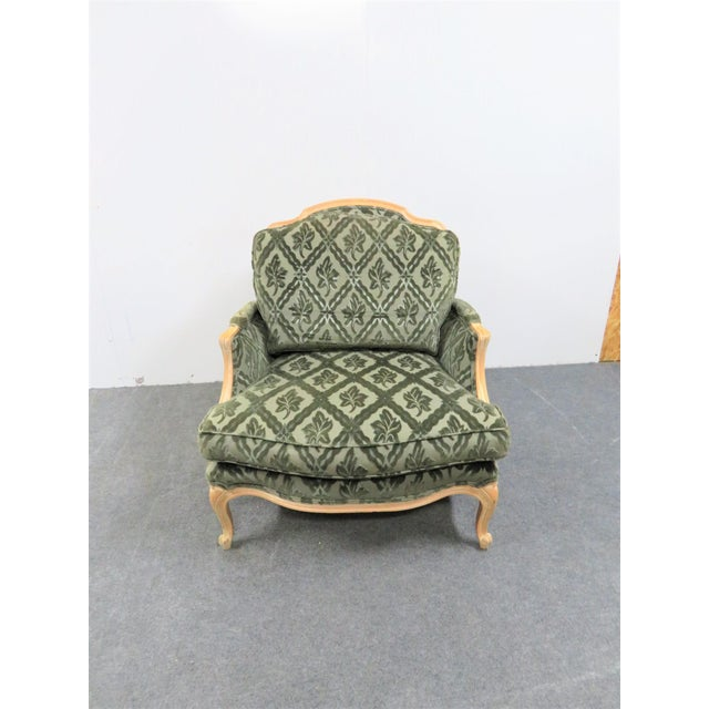 Louis XV Style Pickled Finish Bergere & Ottoman For Sale - Image 4 of 12