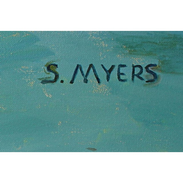 """2010s """"Ocean"""" Original Contemporary Painting by Sarah Myers For Sale - Image 5 of 6"""