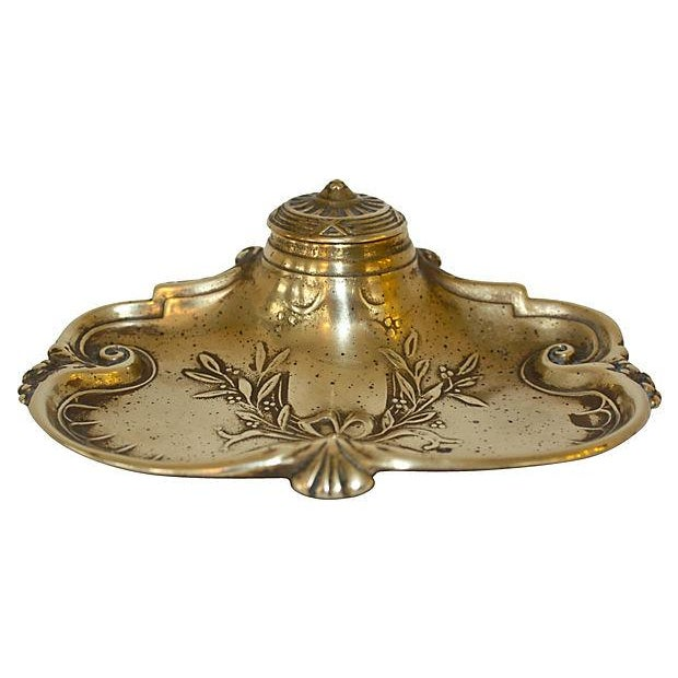 Victorian Brass Inkwell - Image 5 of 6