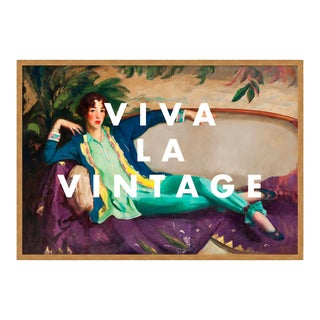 Viva La Vintage by Lara Fowler in Gold Framed Paper, Small Art Print For Sale
