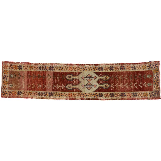 Textile Antique Turkish Oushak Runner - 02'00 X 08'07 For Sale - Image 7 of 7