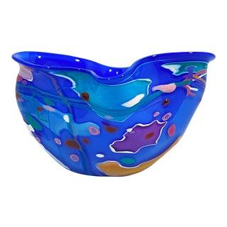 1992 Fuzed Studio Glass Bowl Catchall For Sale