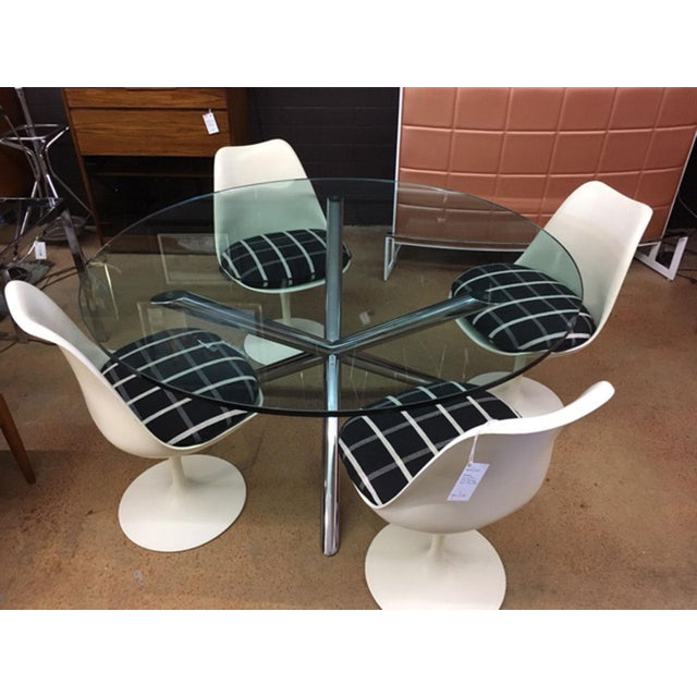 Transparent Milo Baughman Style Jax Dining Table For Sale - Image 8 of 8