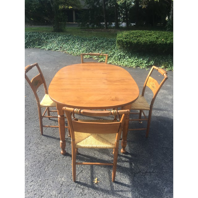 Mid-Century Modern Vintage Heywood-Wakefield Dining Set For Sale - Image 3 of 11