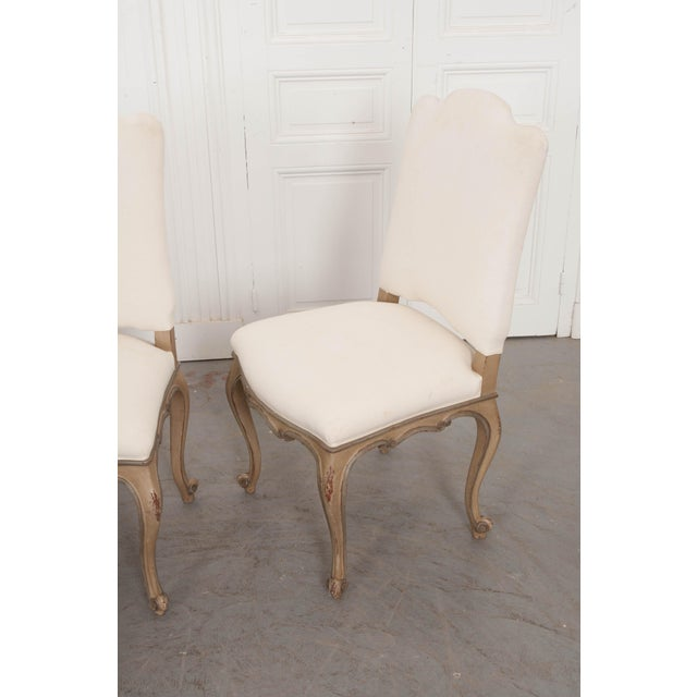 French Louis XV Style Reproduction Dining / Side Chairs - Set of 4 For Sale - Image 10 of 13