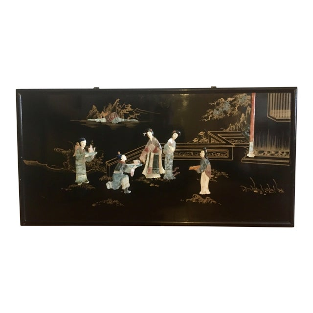 Chinoiserie Wall Art With Semi Precious Stones For Sale
