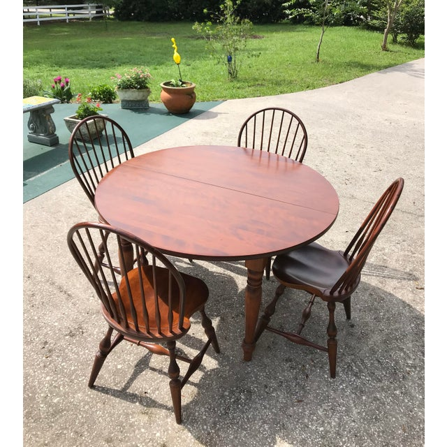 Vintage Windsor Chairs Table Dining Set For Sale