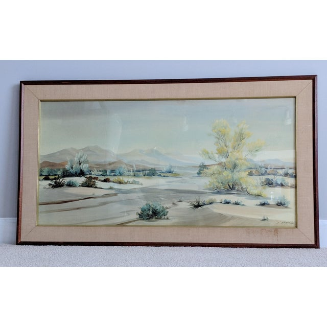 Evelyn E. McGinnis Mid-Century Watercolor Paintings - A Pair For Sale - Image 4 of 11