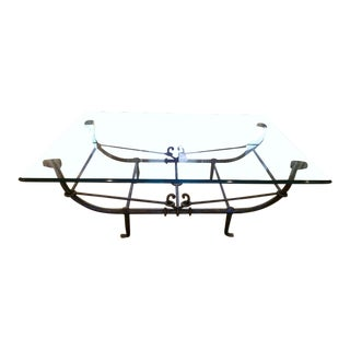 Late 20th Century Giacometti Inspired Wrought Iron Coffee Table For Sale