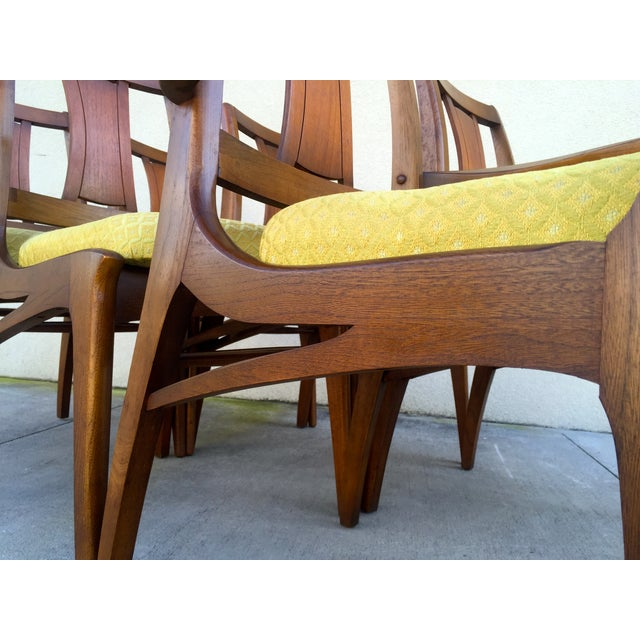 Mid Century Mod Curved Tailback Dining Chairs - 6 - Image 7 of 11