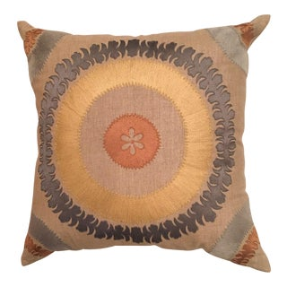 Bliss Studio Ohara Suzani Linen Toss Pillow For Sale