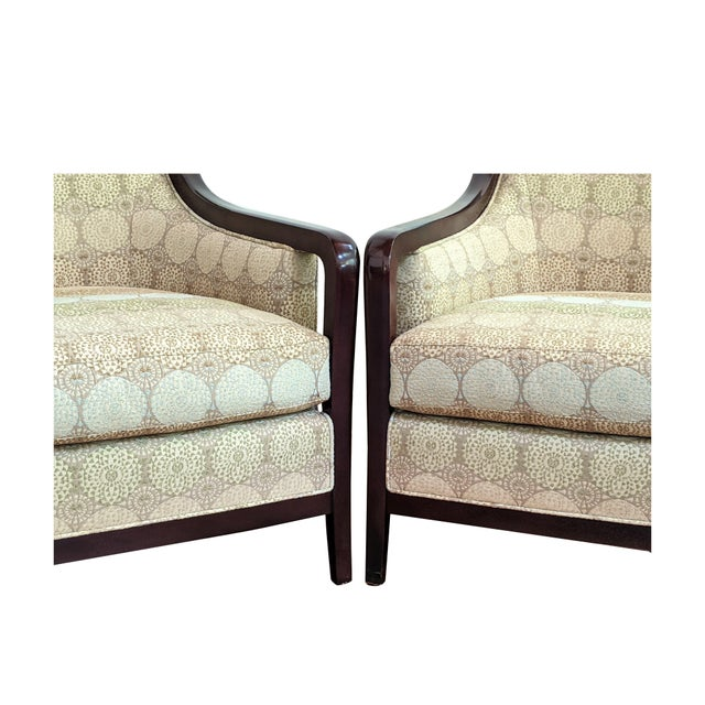 Barbara Barry for Baker Furniture Salon Chairs - a Pair For Sale - Image 10 of 13