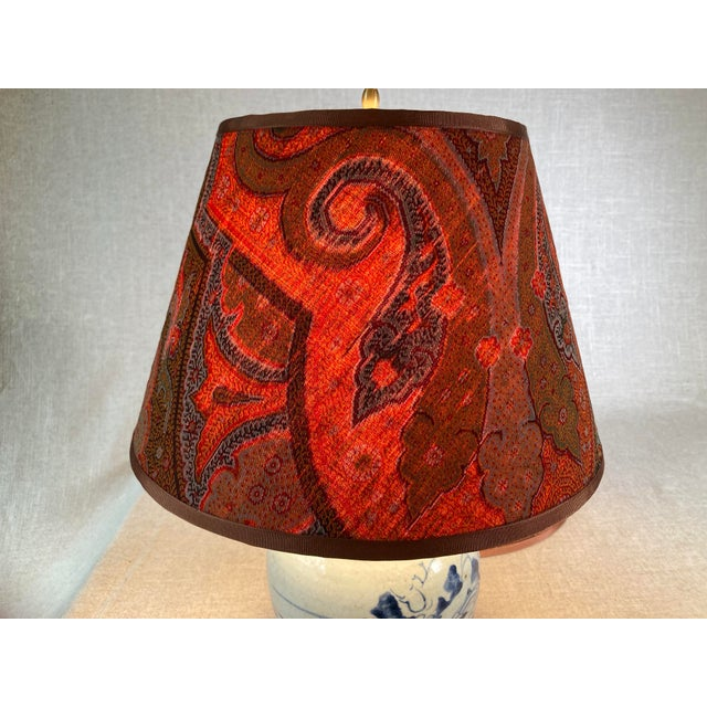 Antique Paisley Lamp Shades - A Pair For Sale - Image 4 of 6