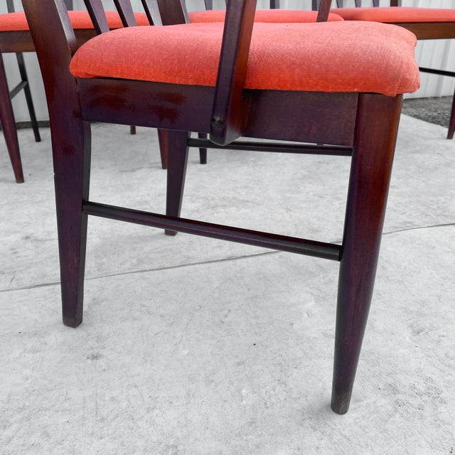 Wood Mid-Century Modern Dining Set With Five Chairs For Sale - Image 7 of 13