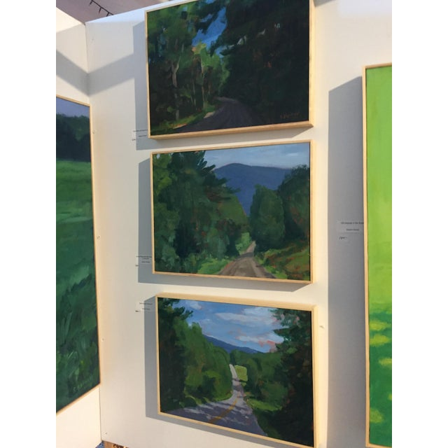 "Stephen Remick ""Vermont Gravel Road With Blue Mountain"" Contemporary 2010s Landscape Painting For Sale - Image 9 of 10"
