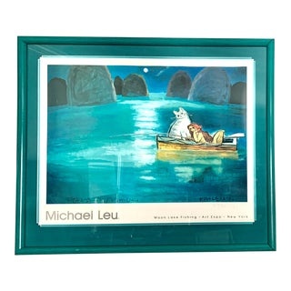 1992 Michael Leu Expressionist New York Art Expo Artist Signed Exhibition Poster For Sale