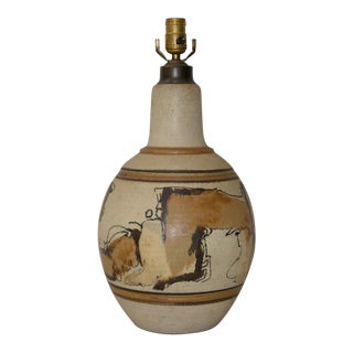 Wishon-Harrell Glazed Stoneware Table Lamp c.1960s For Sale