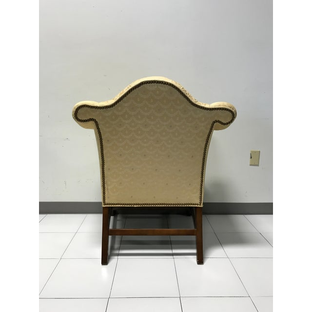 Vintage Fairington Mahogany Frame Button Tufted Arm Chair - Image 7 of 11