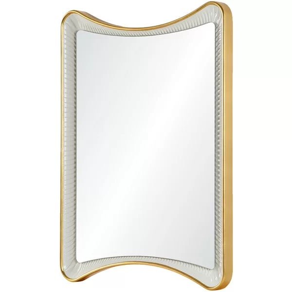 Contemporary Gold Leaf and White Celerie Kemble Mirror For Sale - Image 4 of 4