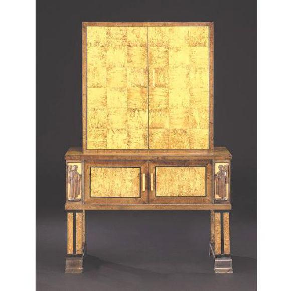 "Rare ""Swedish Grace"" Cabinet / Bar / Sideboard Attributed to Eliel Saarinen - Image 4 of 4"