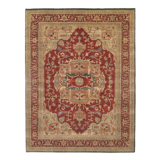 Pasargad Fine Hand-Knotted Serapi Rug - 11′6″ × 15′ For Sale