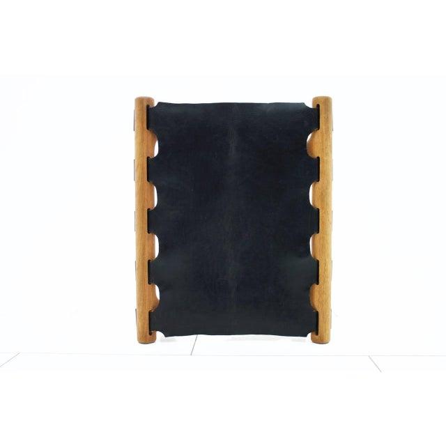 Poul Hundevad Poul Hundevad Folding Stool, Teak and Leather For Sale - Image 4 of 7