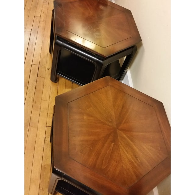 Hollywood Regency Hexagonal End Tables - a Pair - Image 5 of 8