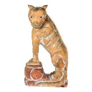 Carved Wood Mountain Lion