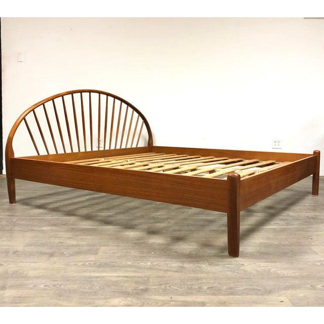 Jespersen Danish Modern Teak King Bed For Sale - Image 11 of 11