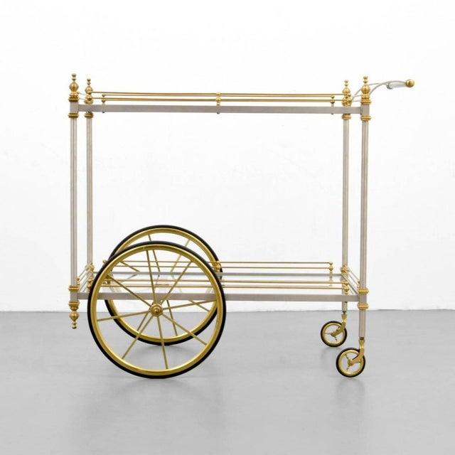 Mid-Century Modern Maison Jansen Tea/Bar Cart, 1960s, France For Sale - Image 3 of 7