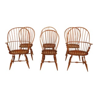1990s Vintage Dr Dimes Windsor Dining Room Chairs - Set of 6