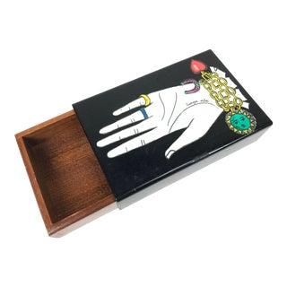 Piero Fornasetti Mid Century Italian Modern Design Graphic Box For Sale