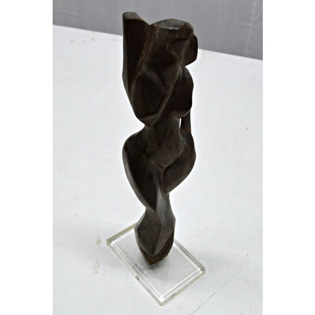 Hand Carved Wood Female Nude Sculpture - Image 8 of 11