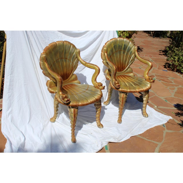Pair of Venetian Grotto Chairs 20c. For Sale In San Diego - Image 6 of 6